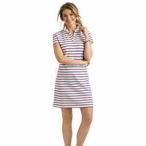 Vineyard Vine Stripe Pique Polo Shirt Dress 2Q1093